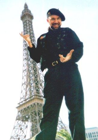 Le Magicien (Star) at Paris Las Vegas with Eiffel Tower behind